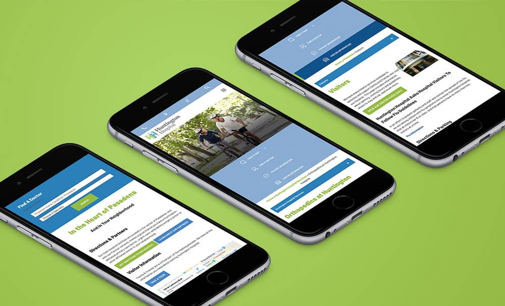 Huntington Hospital mobile website